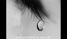 Imagem de Imagem de Luto com Olho Chorando e a palavra Luto