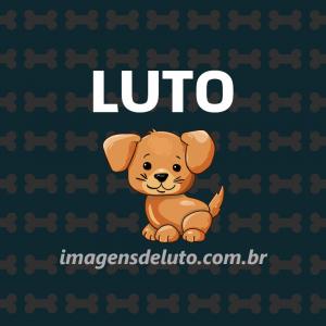 Imagem de Luto Cachorrinho amado com fundo de ossinhos mosaico 300x300