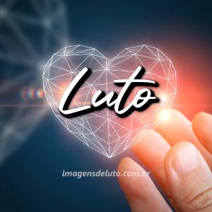 Imagem de luto com coração luminoso 3D e mão pegando 300x300